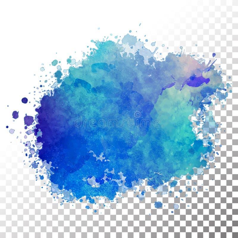Abstraktes Aquarell gemalter Fleck lizenzfreie abbildung