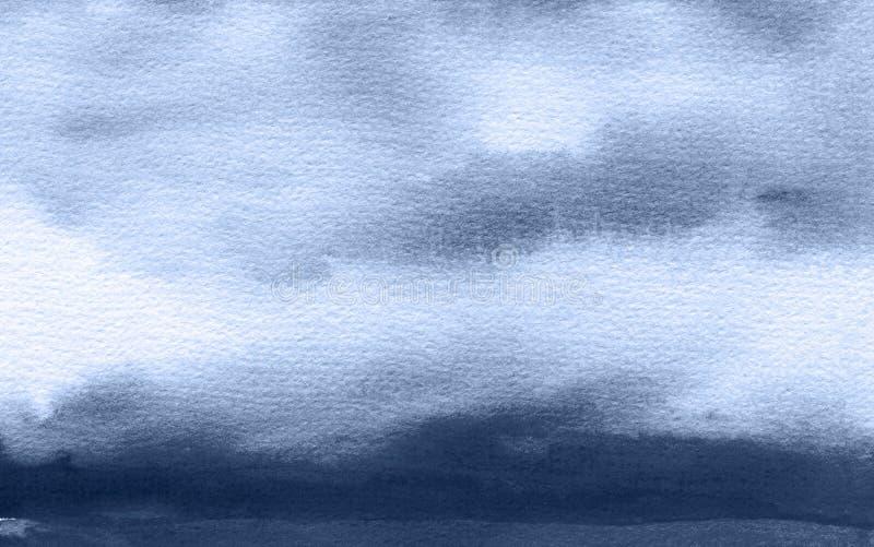 Abstraktes Aquarell malte Hintergrund Masern Sie Papier lizenzfreies stockbild