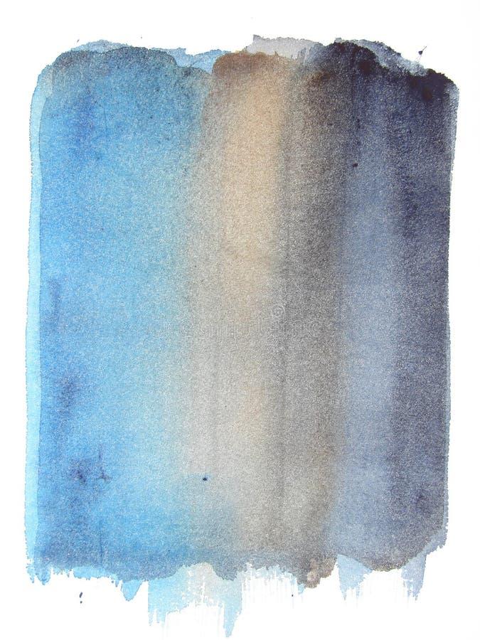 Abstraktes Aquarellhintergrund grunge Blau vektor abbildung