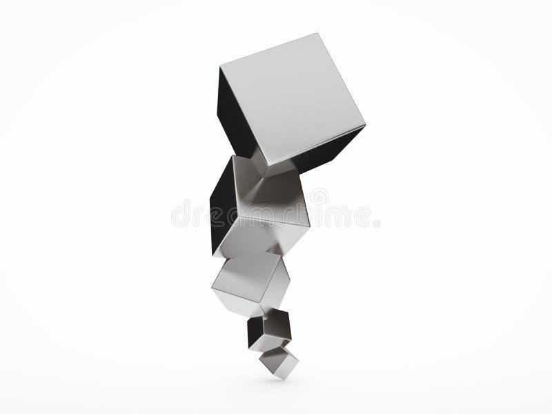 Download Abstraktes Architektur Design 3D Mit Würfeln Stock Abbildung    Illustration Von Architektonisch, Struktur
