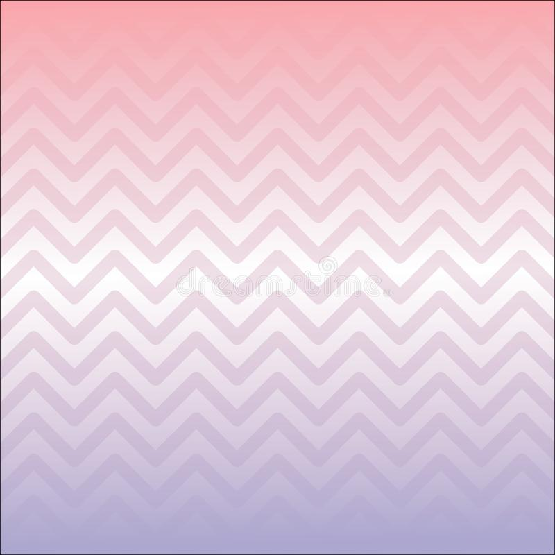 Abstraktes Artplakat MobileCreative Rosa-purpurroter Steigung Zickzack formt Hintergrund Gebrauchsfertig für Anzeigen, Social Med lizenzfreie abbildung