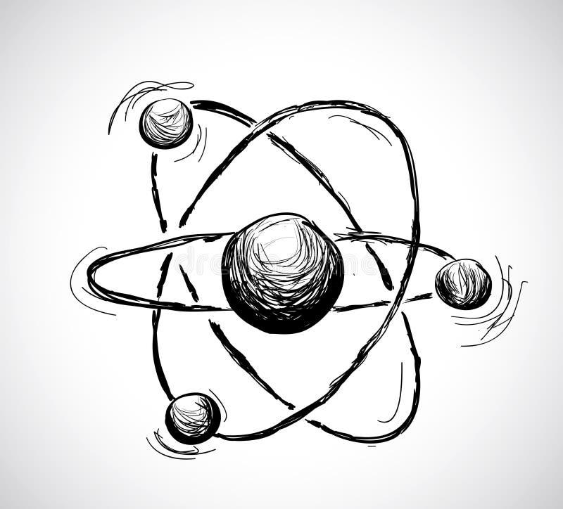 Abstraktes Atom lizenzfreie abbildung