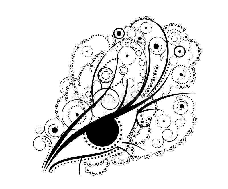 Abstraktes Auge stock abbildung