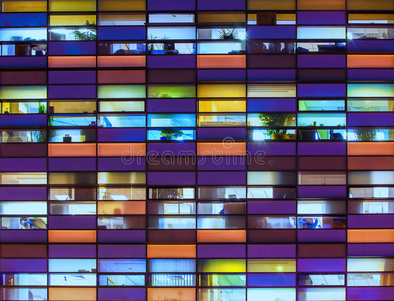 Abstraktes Bürogebäude lizenzfreie stockfotografie