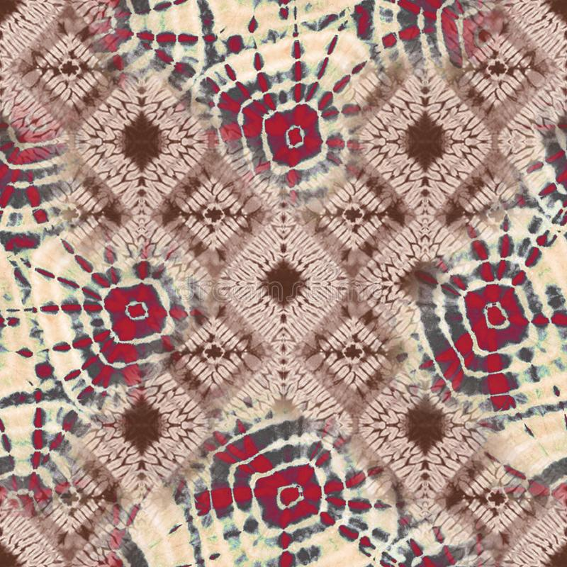 Abstraktes Batikbindungfärbungs-Textilmuster - Illustration lizenzfreie stockbilder