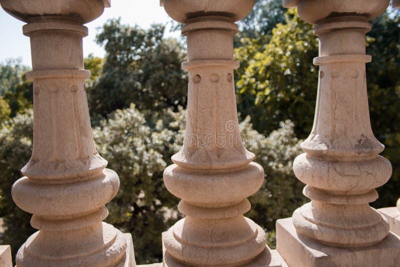 Abstraktes Bild des Ciutadella-Parks stockfoto
