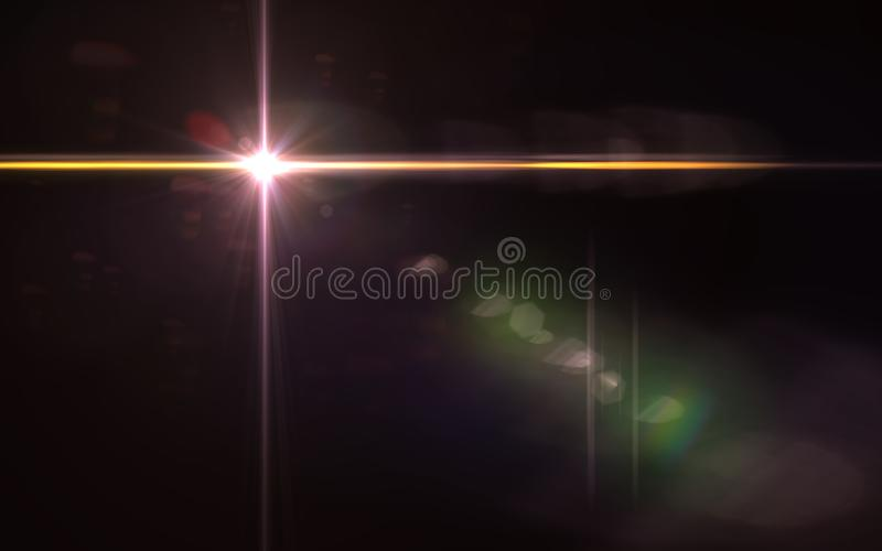Abstraktes Bild des Sonnenexplosions-Beleuchtungsaufflackerns lizenzfreie abbildung