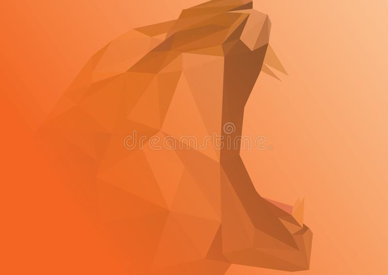 Abstraktes Bild des Tigers Abbildung vektor abbildung
