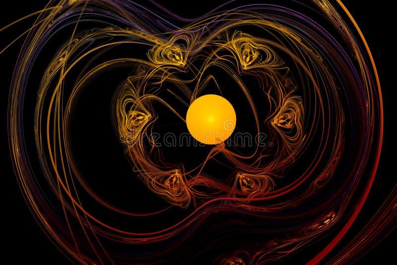 Abstraktes Bild: Fractalturbulenz vektor abbildung