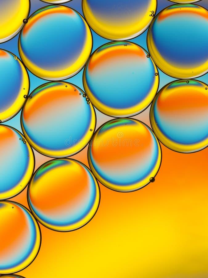 Abstraktes Bild von Öltröpfchen lizenzfreie stockfotografie