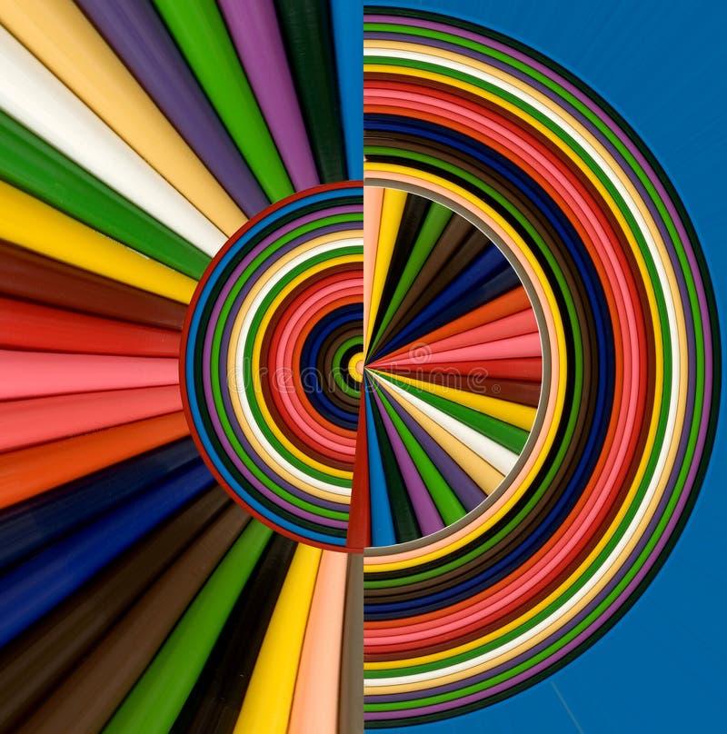 Abstraktes Bild von bunten Bleistiften stock abbildung