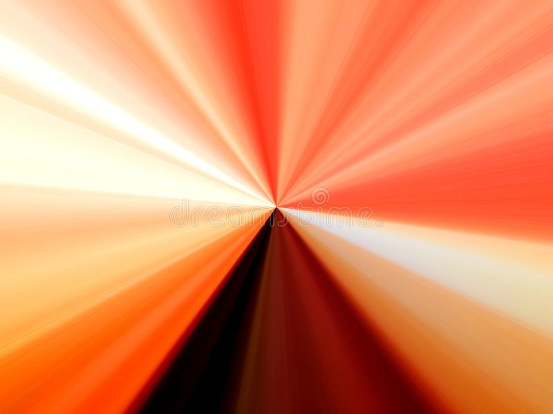 Abstraktes Bild von mehrfarbigen Linien von Strahlen im Raum stock abbildung