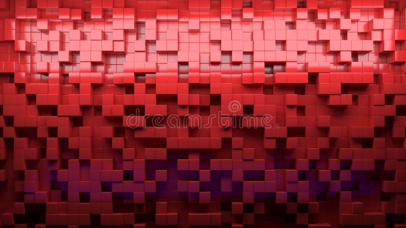 Abstraktes Bild von Würfeln kopieren Hintergrund mit Perspektive stockbilder