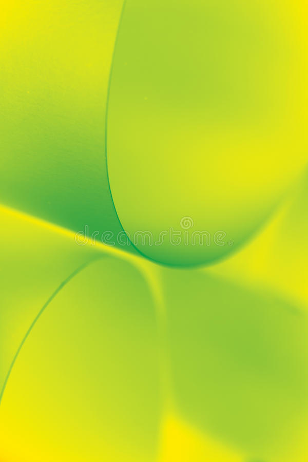 Abstraktes Bildpapier formt gelbes Grün stockfoto