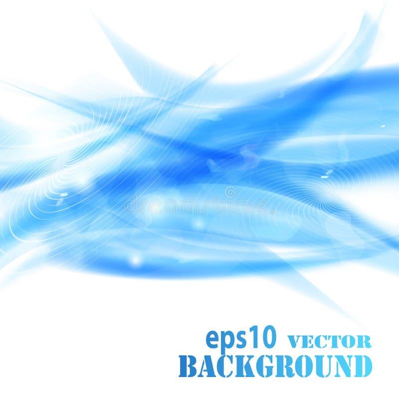 Abstraktes Blau bewegt Hintergrund wellenartig vektor abbildung