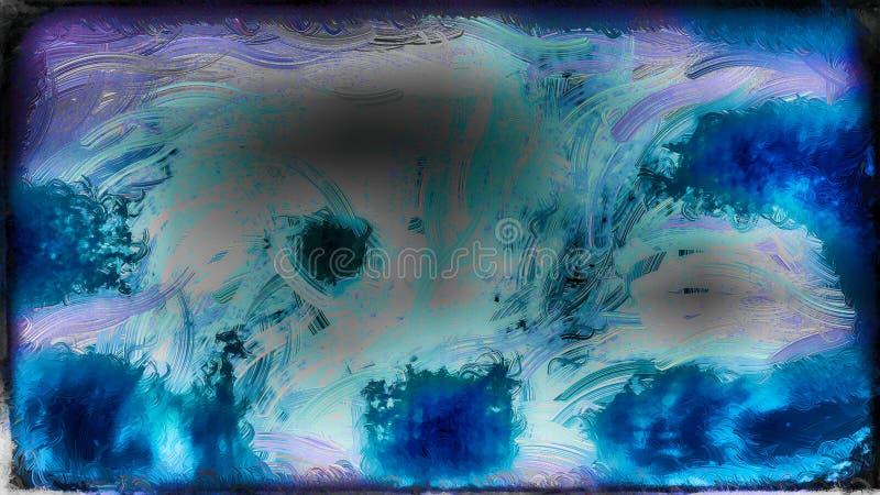 Abstraktes Blau und Grey Glass Effect Paint Background-Bild vektor abbildung