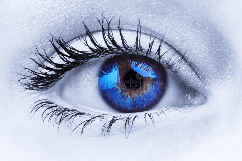 Abstraktes blaues Auge stockbilder