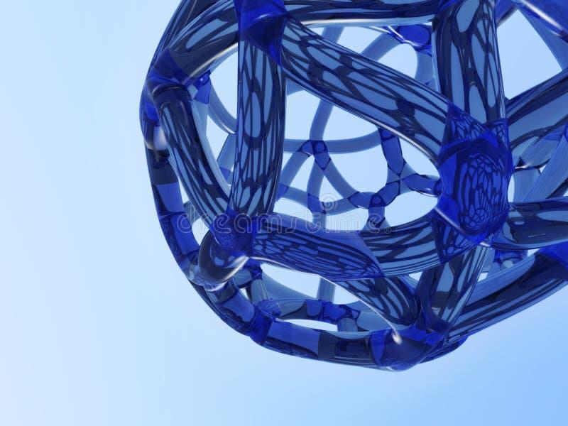 Abstraktes blaues Netz stock abbildung