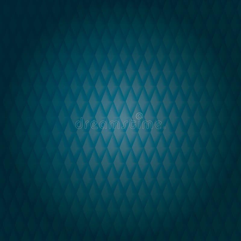Abstraktes blaues und graues Muster lizenzfreie abbildung