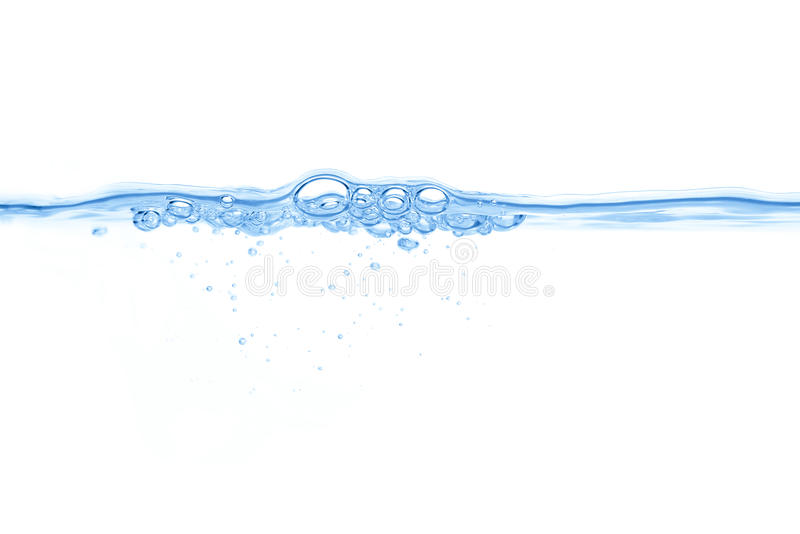Abstraktes blaues Wasser sprudelt Hintergrund stockfoto