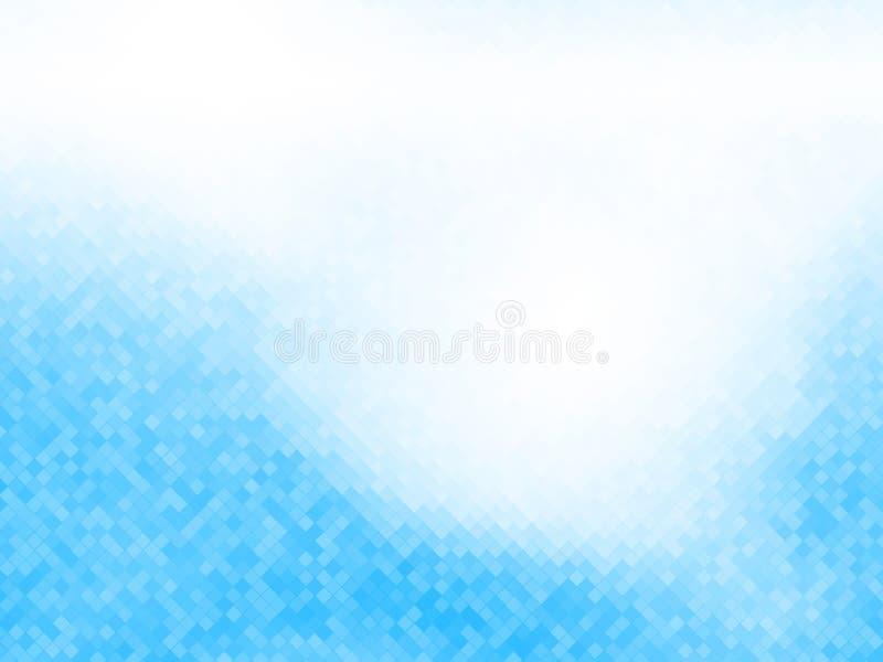 Abstraktes blaues weißes mit Ziegeln gedecktes Muster lizenzfreie abbildung