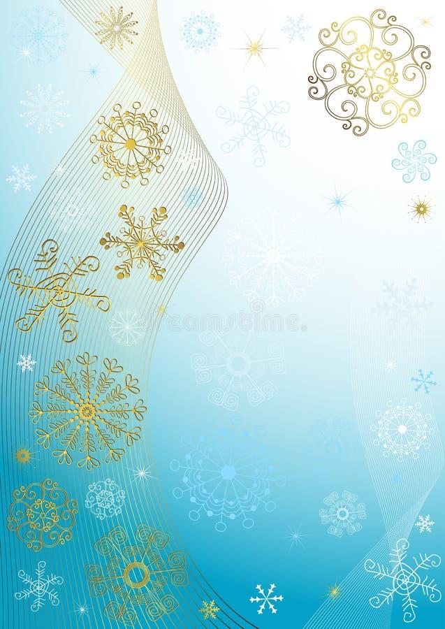 Abstraktes blaues Weihnachtsfeld vektor abbildung