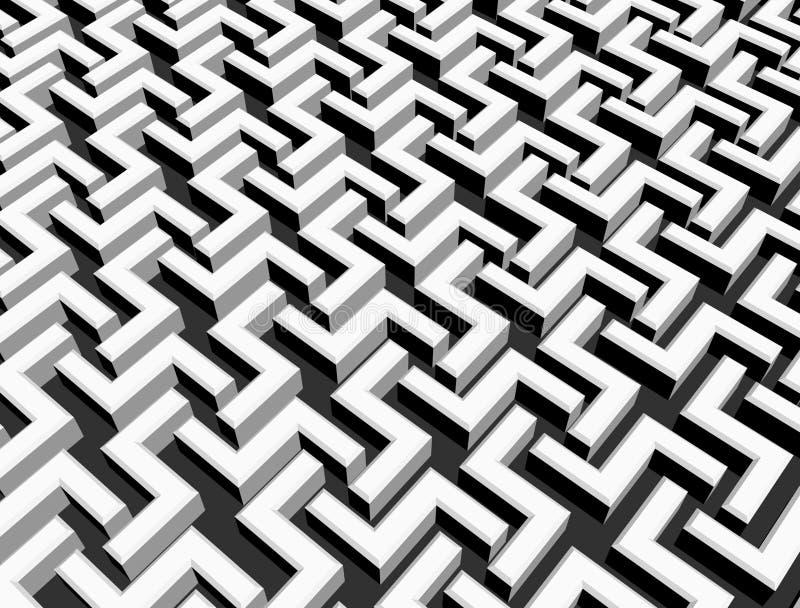 Abstraktes Blockweiß des Hintergrundes 3d lizenzfreie abbildung