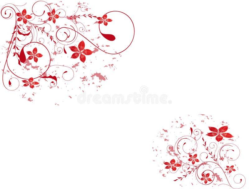 Abstraktes Blume Abbildungblumen-Frühlingsrosa g stock abbildung