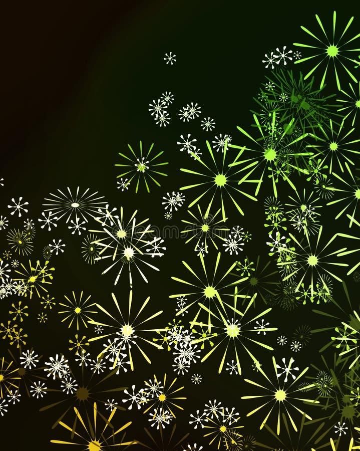 Abstraktes Blumen. vektor abbildung