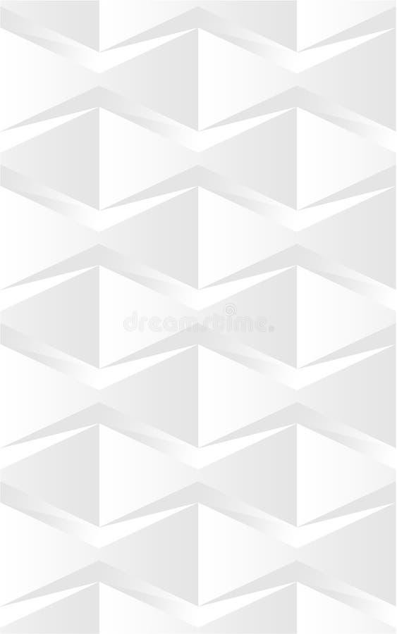 Abstraktes Blumen-3d nahtloses Muster 03 vektor abbildung