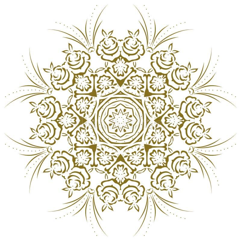 Abstraktes Blumen Der Mandala Stock Abbildung - Illustration von ...