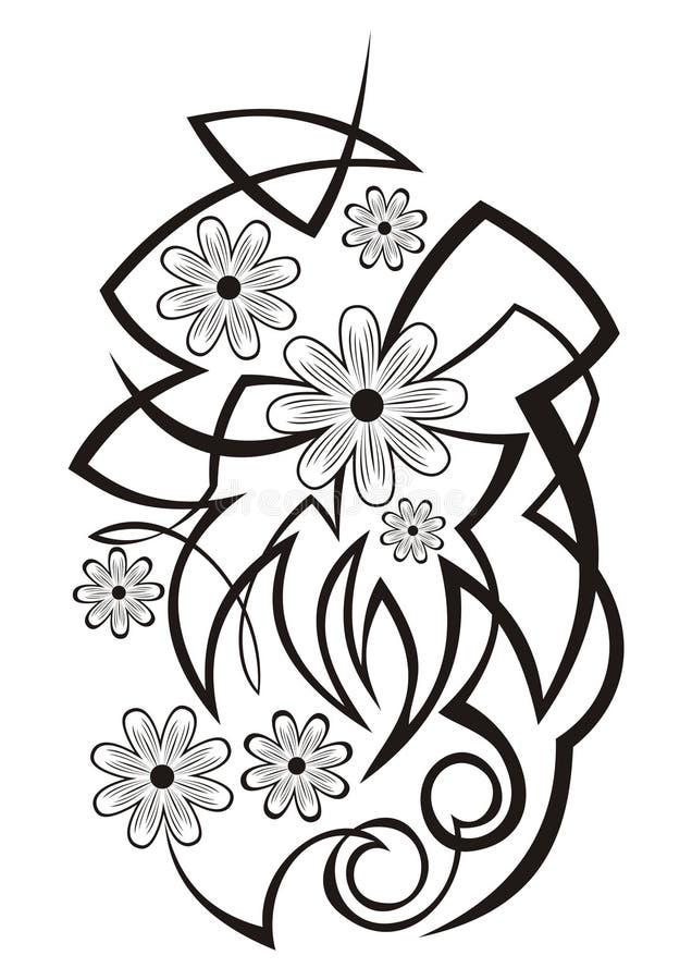 Abstraktes Blumenelement stock abbildung