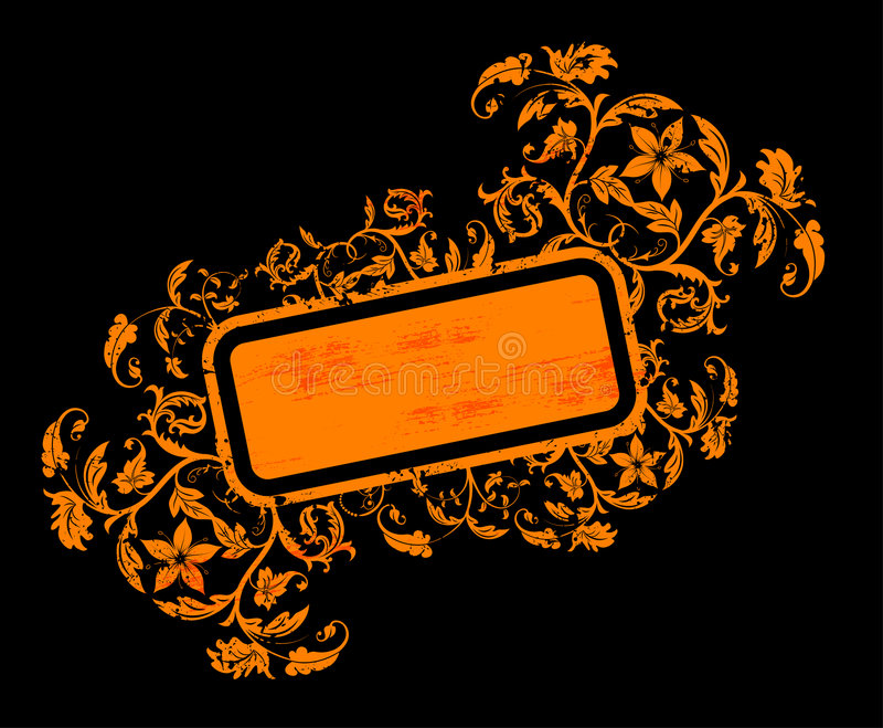Abstraktes Blumenfeld stock abbildung