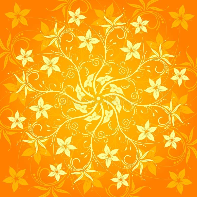 Abstraktes Blumenmuster lizenzfreie abbildung