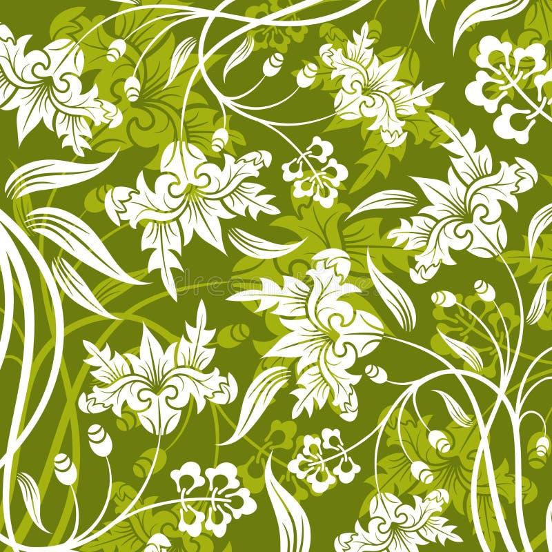 Abstraktes Blumenmuster stock abbildung