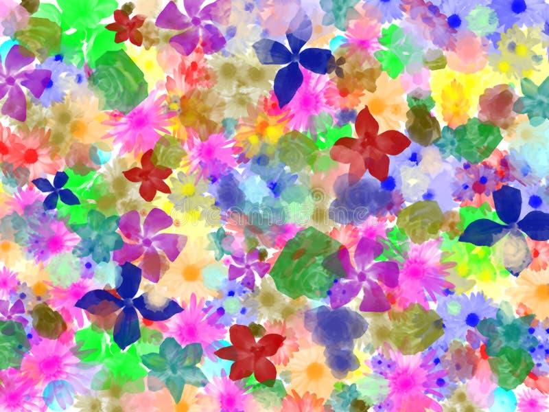 Abstraktes Blumenmuster für Gewebe und Mode Blumensträuße der Rosen Ursprünglicher Blumenhintergrund stockfoto