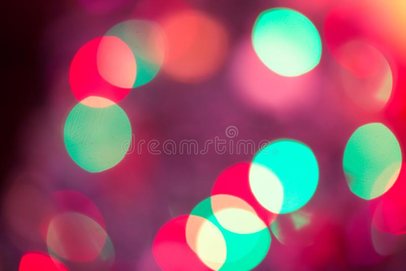Abstraktes Bokeh unscharfes Farblicht kann Hintergrund benutzen stockbilder