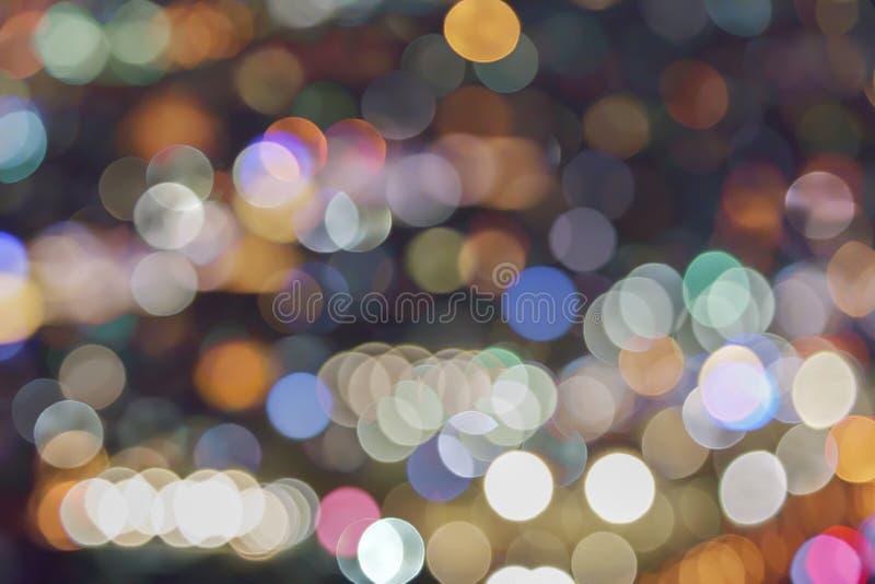 Abstraktes Bokeh unscharfes Farblicht kann Hintergrund benutzen lizenzfreie stockfotos
