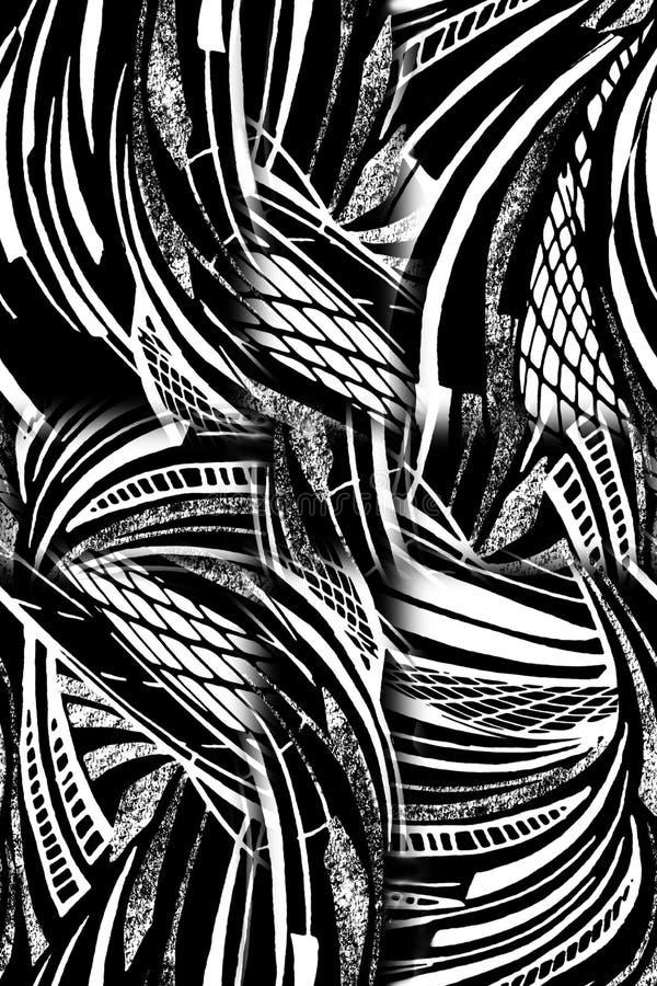 Abstraktes buntes Blockdruckmuster lizenzfreie abbildung