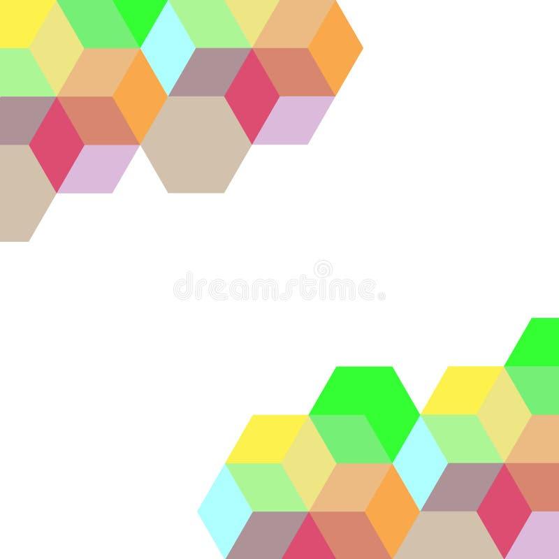 Abstraktes buntes geometrisches auf weißem Hintergrund vektor abbildung