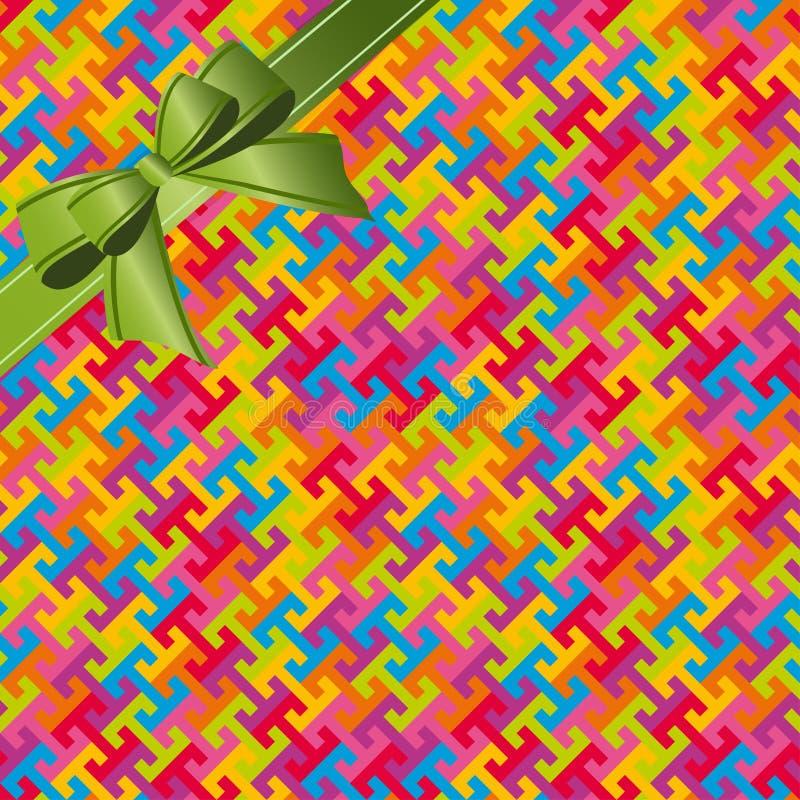 Abstraktes buntes geometrisches nahtloses Musterhintergrund whis Band vektor abbildung