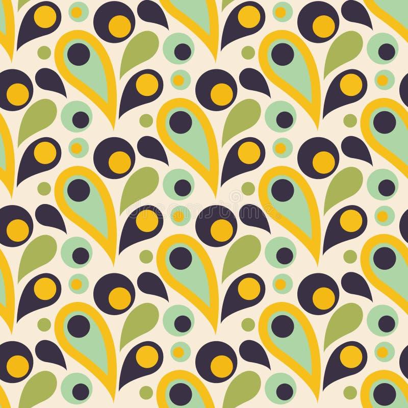 Abstraktes buntes nahtloses Muster mit Tropfen, runde Formen flach vektor abbildung
