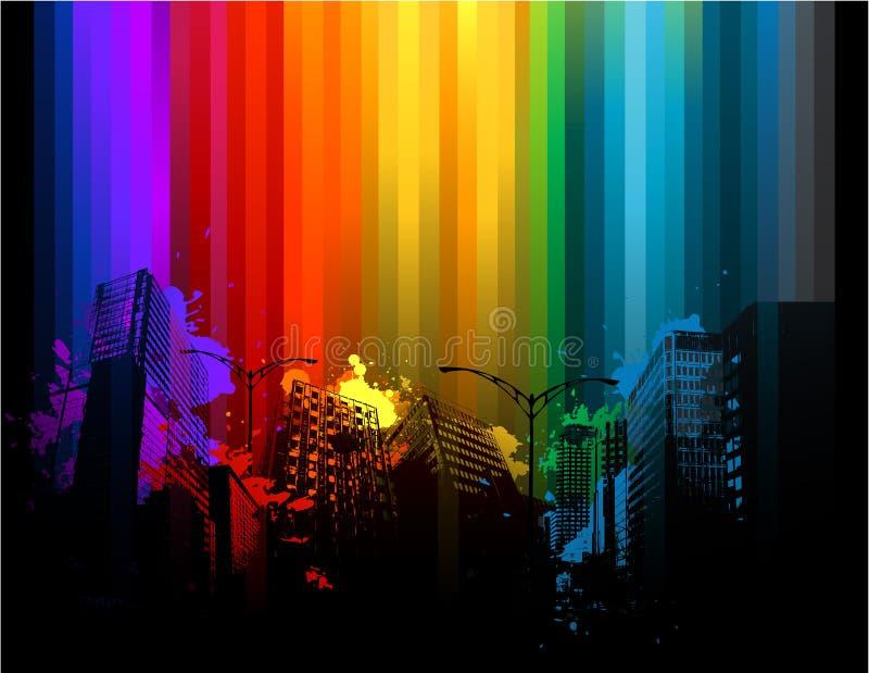 Abstraktes buntes Stadtbild vektor abbildung
