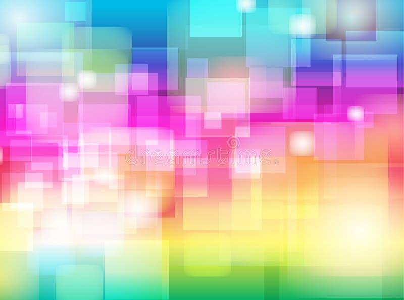 Abstraktes buntes Unschärfe Bokeh-Hintergrund Design vektor abbildung