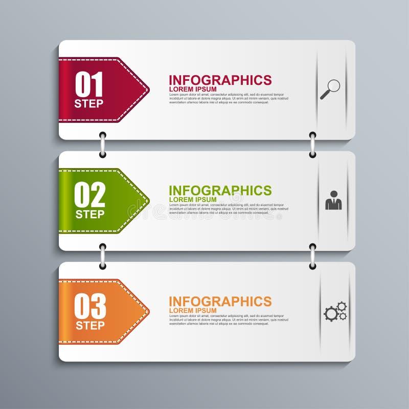 Abstraktes 3D Papier Infographic lizenzfreie abbildung
