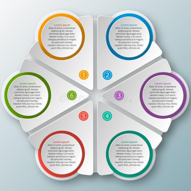 Abstraktes 3D Papier Infographics stock abbildung