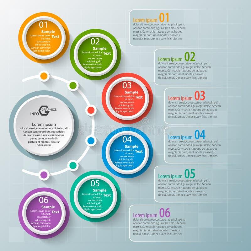 Abstraktes 3D Papier Infographics Shirtmänner und -frauen, verwendbar für das Bekanntmachen und die Handelszwecke Auch im corel a stock abbildung