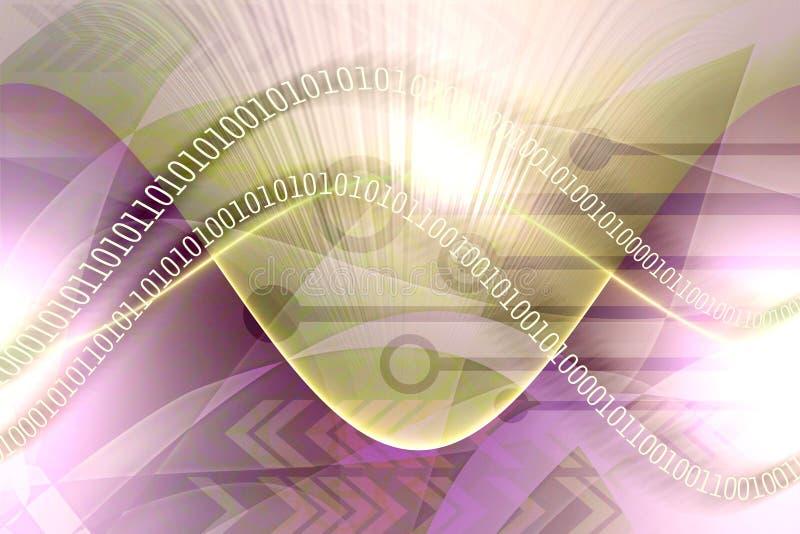 Abstraktes Datenleck stock abbildung