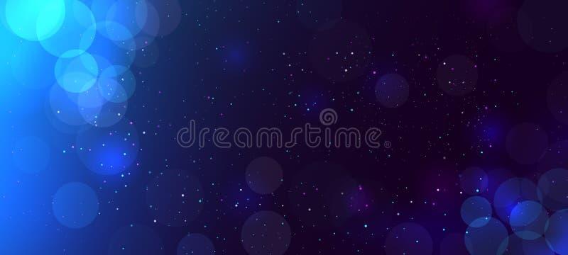 Abstraktes defocused Funkeln bokeh heller Hintergrund mit Kreisen Moderner schöner Weihnachts- und Neujahrsfeiertaghintergrund vektor abbildung
