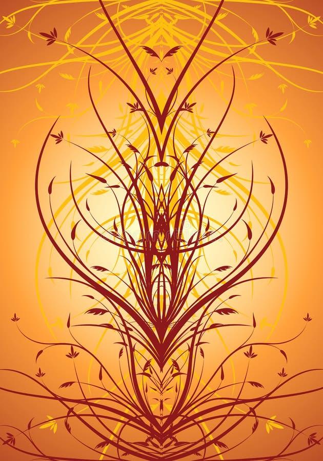 Abstraktes dekoratives vertikales Hintergrundvektormit blumenillustrati stock abbildung
